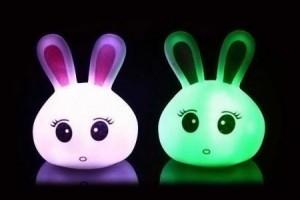 Lampu Bunny Kepala Kelinci LED berubah 7 warna – 022