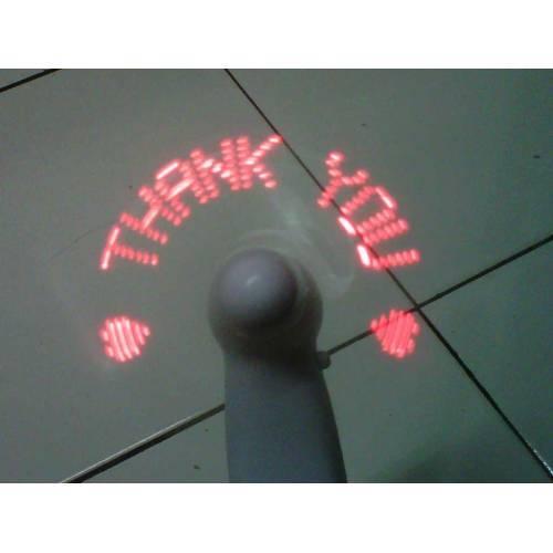 Kipas Angin genggam mini LED unik keluar 6 macam tulisan – 025
