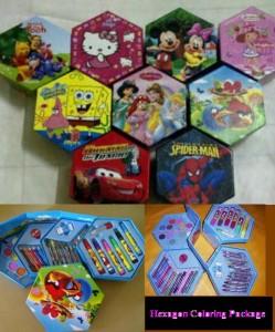Crayon Hexagon Set Karakter Lucu – 060