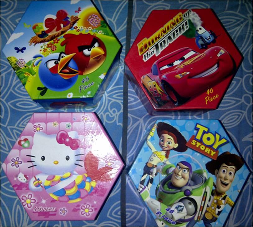 Crayon Hexagon Set Karakter Lucu