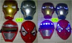 Topeng Lampu Nyala Iron Man Spiderman – 095