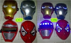Topeng Lampu Nyala Iron Man Spiderman – 095