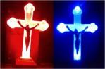 Lampu Salib LED Batery Biru Merah Natal Paskah – 152