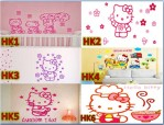 Wall Sticker Hello Kitty Transparan ukuran 60 x 90cm – 166