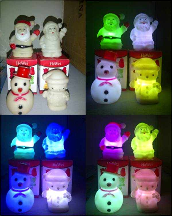 Lampu Tidur Santa Klaus Boneka Salju Berubah warna - 157