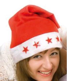 Topi Santa Natal Christmas Lampu Menyala LED - 162