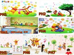 Wall Sticker Transparant Winnie The Pooh 60 x 90 cm – 168