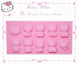 Cetakan puding es batu jelly Hello Kity Mickey Mouse mold - 185