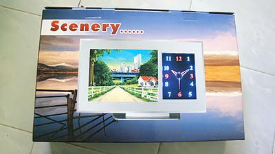 3D Scenery moving Clock Jam mobil pemandangan bergerak - 193