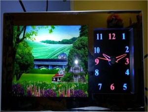 3D Scenery moving Clock Jam mobil pemandangan bergerak – 193
