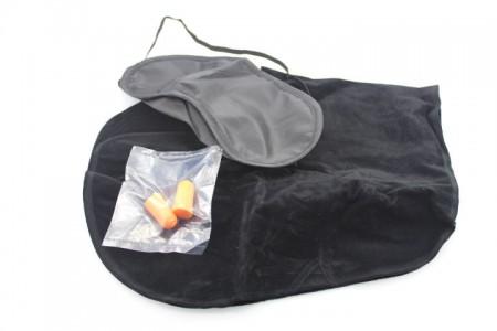 Travel Pillow Bantal Leher Penutup Mata Telinga - 196