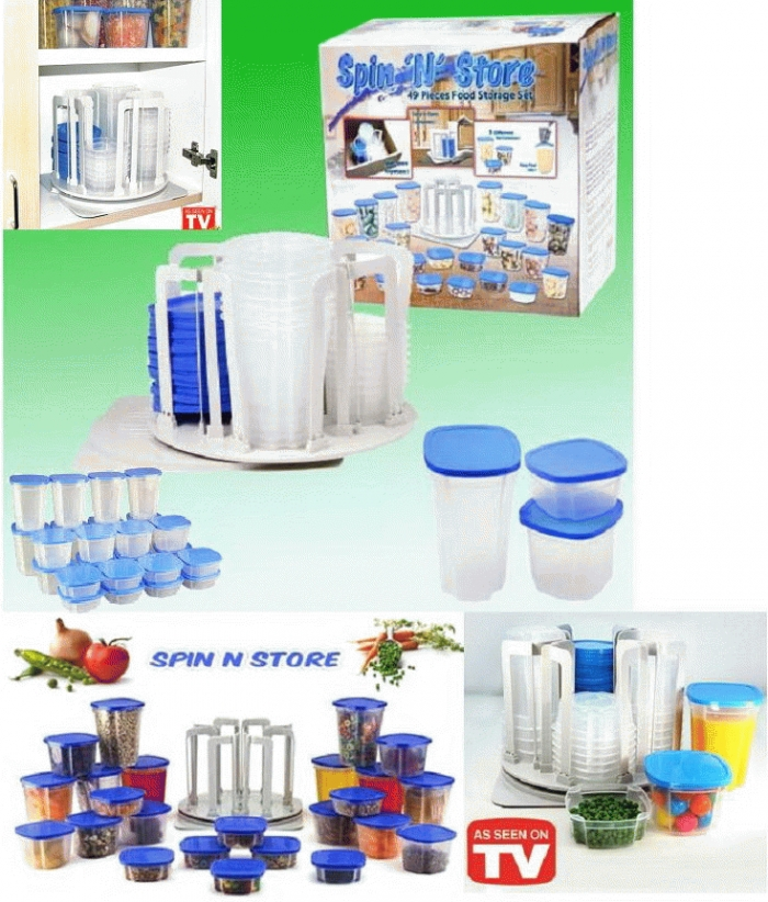 Spin and Store wadah penyimpanan 49 in 1 - 223