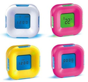 Four Sided Clock Jam Alarm Rotasi – 267