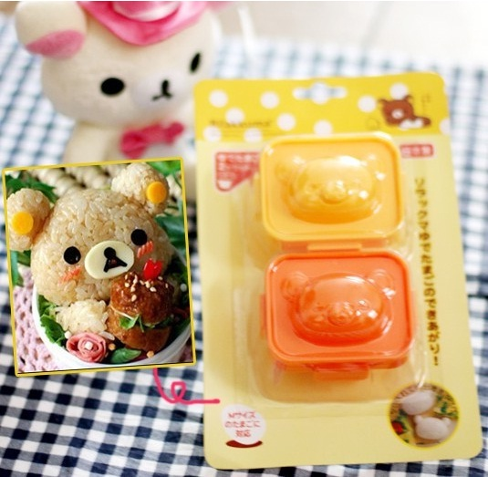 Cetakan Nasi Telur Bento Rice Egg Mold 2in1 Karakter Rilakuma - 417