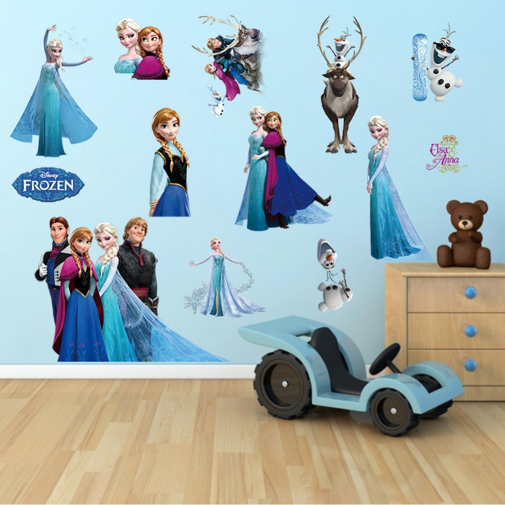 Wall Sticker 3D Frozen Minion Masha Sofia Hello Kitty Doraemon - 435