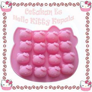 Cetakan Silikon Hello Kitty Mold Coklat Es Puding Jelly Lucu Unik - 466