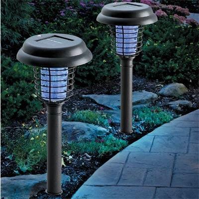 Lampu Taman Anti Nyamuk LED Bug Zapper Solar Light - 467