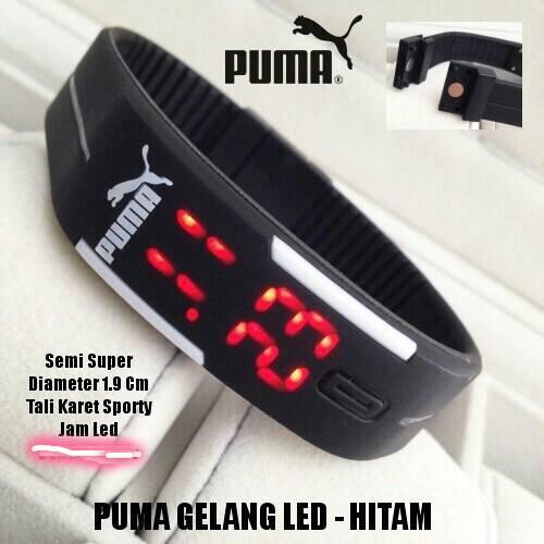Jam Tangan Gelang LED Karet Rubber LED Watch Nike Puma Adidas - 484