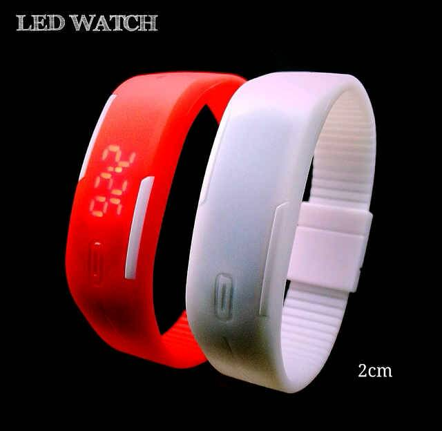 Jam Tangan Gelang LED Karet Rubber LED Watch - 483
