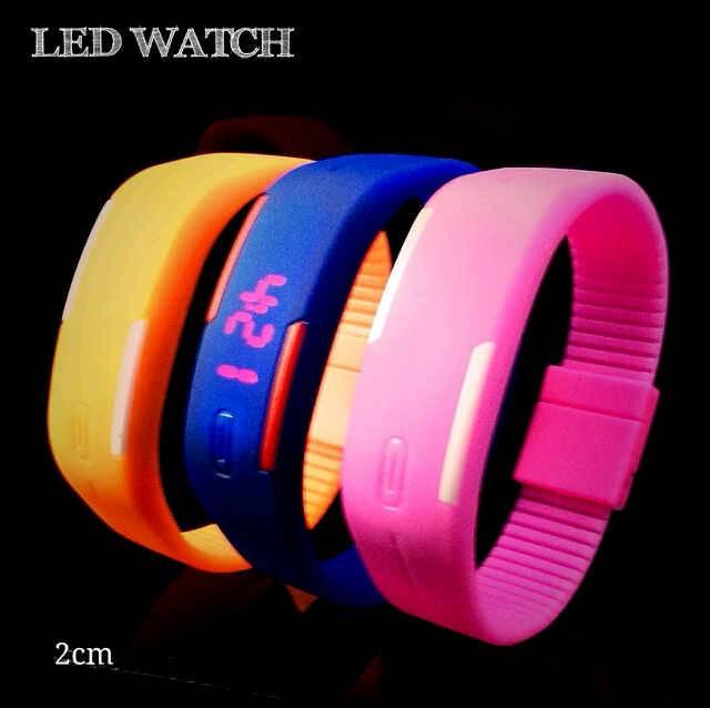 Jam Tangan Gelang LED Karet Rubber LED Watch - 483