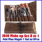 JOJO Makeup Set Alat Makeup 1 Set Isi 8 dilengkapi Tas – 482