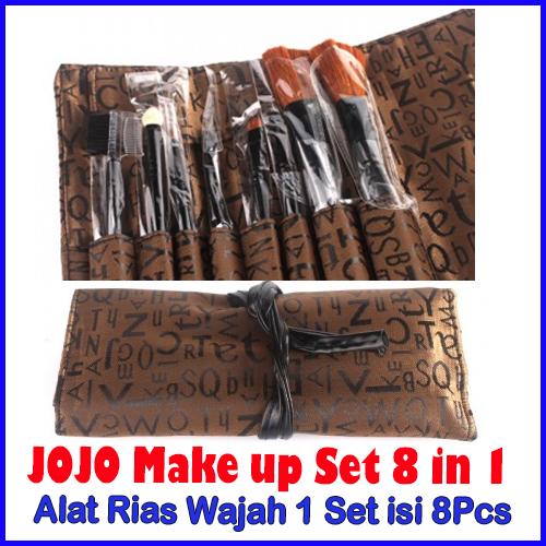 JOJO Makeup Set Alat Makeup 1 Set Isi 8 dilengkapi Tas - 482