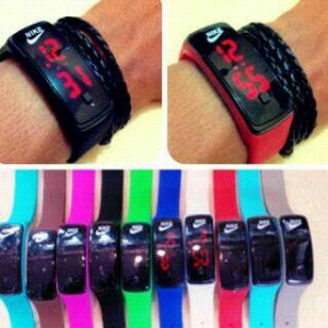 Jam Gelang LED Geneva Nike Adidas Puma Smart Watch – 495