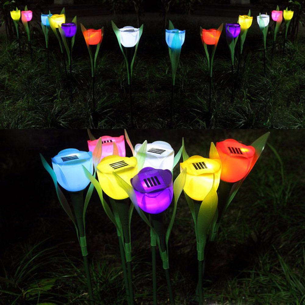 Lampu Taman Bunga Tulip Solar Cell Tenaga Matahari 502 Barang Unik China Barang Unik Murah Grosir Barang Unik
