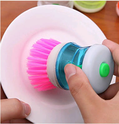 Alat Sikat Panci Inovatif + Dispenser Sabun Cair Brush Soap - 489