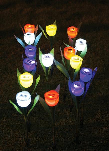 Lampu Taman Bunga Tulip Solar Cell Tenaga Matahari - 502
