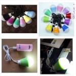 Lampu USB LED Bohlam 5 Watt Portabel + Kabel – 508