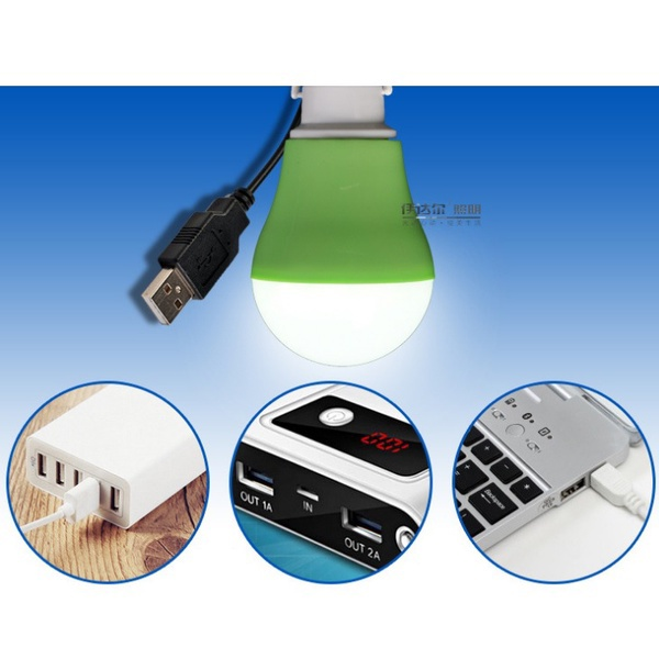 Lampu USB LED Bohlam 5 Watt Portabel + Kabel - 508