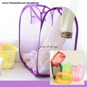 Keranjang Lipat Baju Kotor Laundry Bag Polos - 531