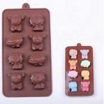 Cetakan Es Silikon Puding Permen Candy Cookies Karakter Lucu Singa Hippo Pooh – 527