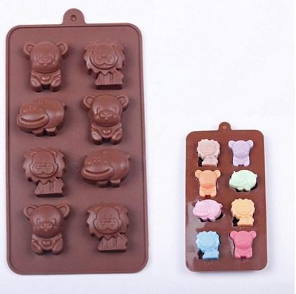Cetakan Es Silikon Puding Permen Candy Cookies Karakter Lucu Singa Hippo Pooh - 527