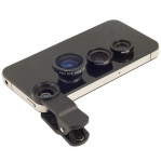 Lensa Clip Handphone Universal 3in1 Macro Wide Fish Eye – 572