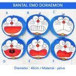 Bantal Doraemon Emotion Yelvo Dacron diameter 40cm Souvenir Anak – 614