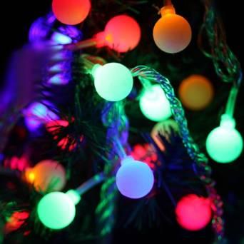 LAMPU LED TWINKLE BULAT 7 WARNA HIASAN POHON NATAL DEKORASI CHRISTMAST - 605
