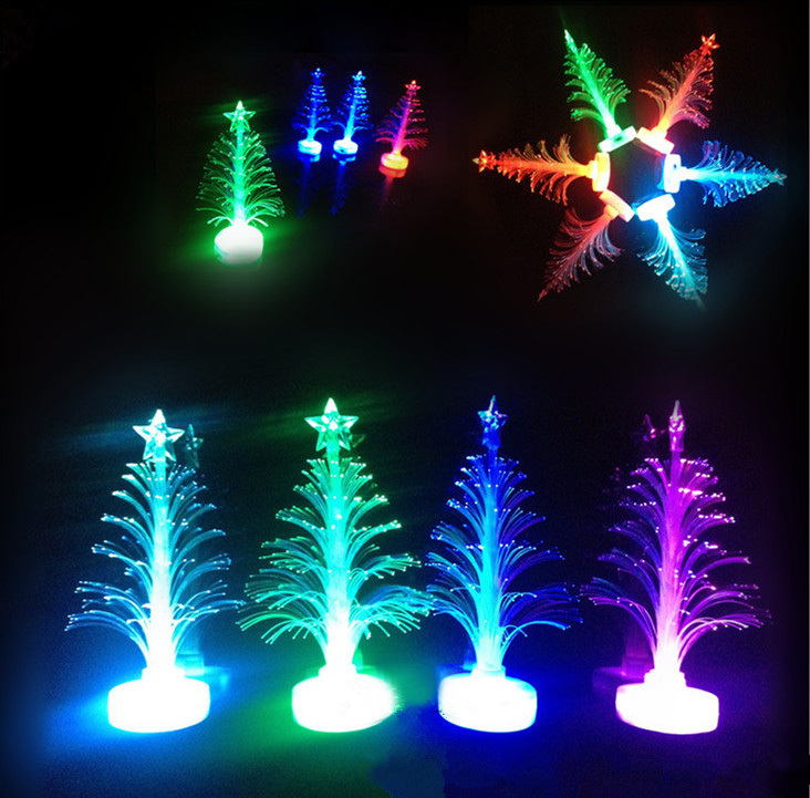 Lampu LED Pohon Natal Fiber Optic 7 Warna Chrismast Souvenir - 611