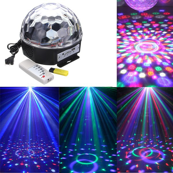 Lampu Disco Musik Speaker USB LED Crystal Magic Ball Light - 608