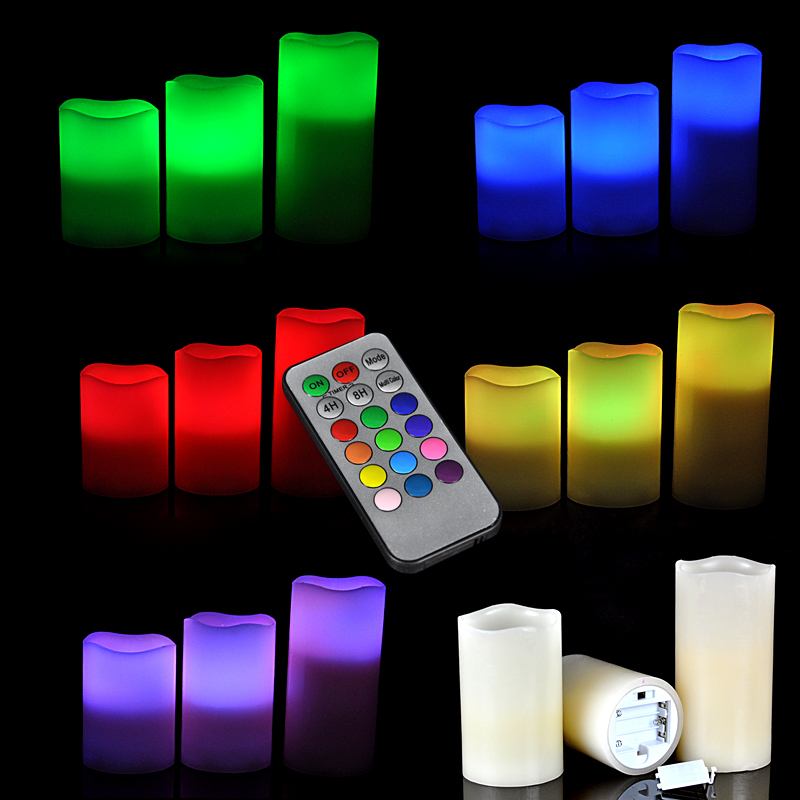 Lampu Lilin Remote Control Candle Light isi 3pcs Christmas Lamp Natal - 601