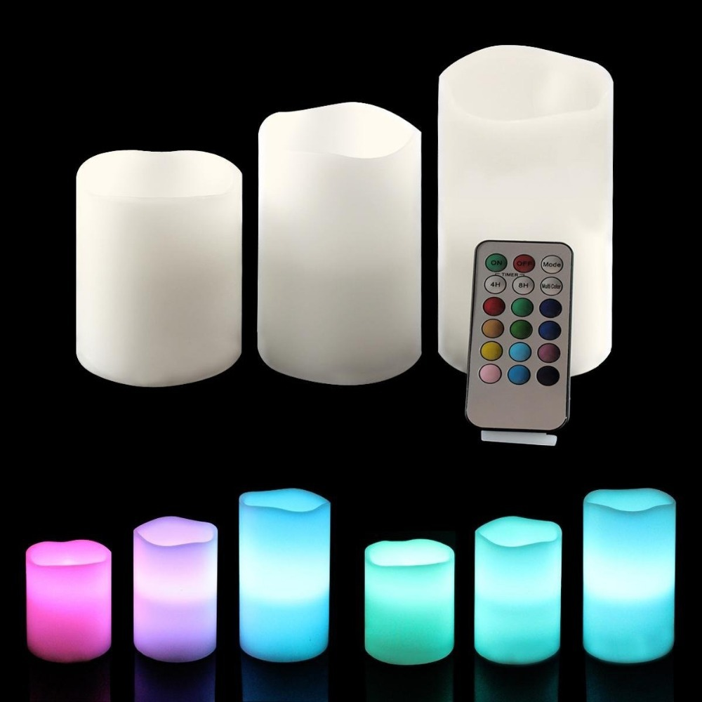 Lampu Lilin Remote Control Candle Light isi 3pcs Christmas ...