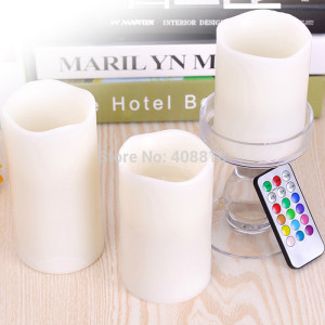 Lampu Lilin Remote Control Candle Light isi 3pcs Christmas Lamp Natal – 601