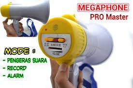 MEGAPHONE TOA PENGERAS SUARA ALARM REKAM RECHARGEABLE SIRINE DEMONSTRASI - 604