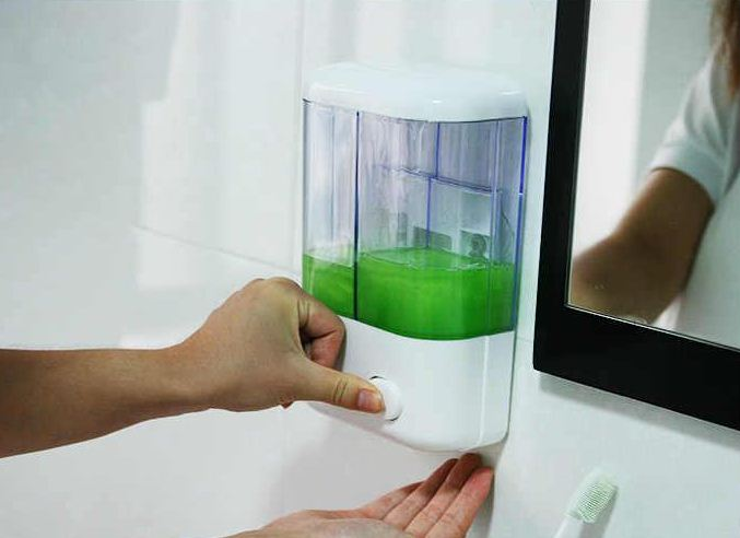 Touch Soap Double Dispenser Sabun Cair Shampoo 2 Tabung - 607
