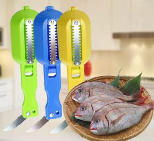 Alat Pembersih Sisik Ikan Pisau Generasi2 New Fish Scale Kitchen – 597