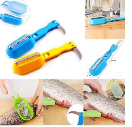 Alat Pembersih Sisik Ikan Pisau Generasi2 New Fish Scale Kitchen - 597