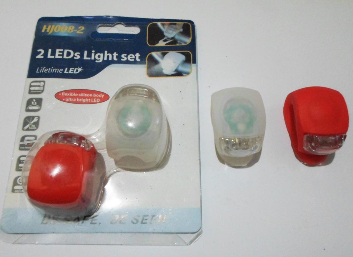 Lampu Sepeda Silikon Anti Air Gowes Night Lamp Aksesoris - 619