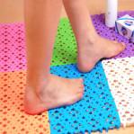 Puzzle Lantai Alas Tatakan Meja Kamar Mandi Floor Mat Drain Waterproof – 622