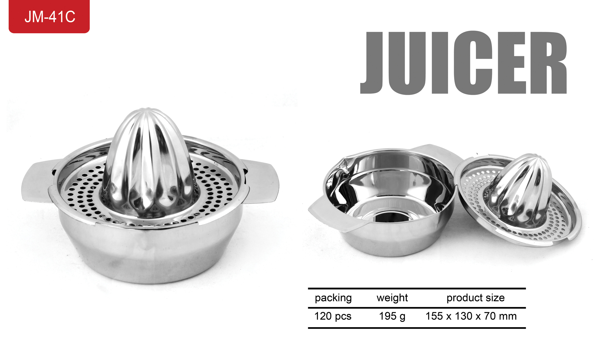 Perasan Manual Jeruk Lemon Orange Juicer Stainless Steel - 648